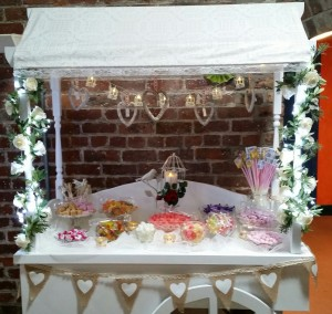 Candy Cart dressed in a Vintage Style